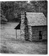 Cabin On The Blue Ridge Parkway - 5 Canvas Print