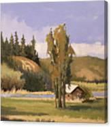 Cabin On The Kootenai Canvas Print