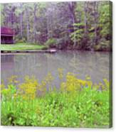 Cabin Reflection Canvas Print