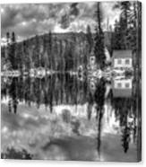 Cabin Reflection Canvas Print