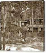 Cabins At Carmel Highlands Inn Circa 1930 Canvas Print