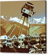 Cable Car Fly - San Francisco Collage Canvas Print