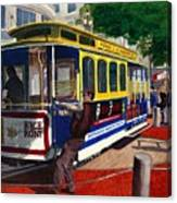 Cable Car Turntable At Powell And Market Sts. Canvas Print
