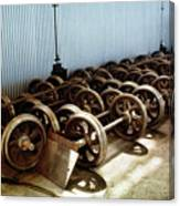 Cable Car Wheels, Repair Shop Canvas Print