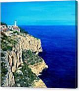 Cabo La Nao Lighthouse Javea Spain Canvas Print