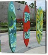 Cabo Surfboard Sculpture 1 Canvas Print