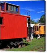 Caboose At Shelburne Trolley Museum Canvas Print