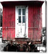 Caboose In Barn Red  Canvas Print