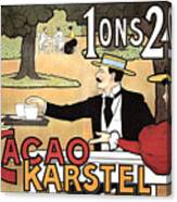 Cacao Karstel - Vintage Cacao Advertising Poster Canvas Print