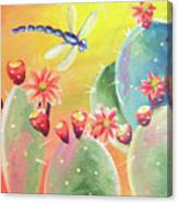 Cactus And Firefly Canvas Print