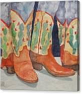 Cactus Boots Canvas Print