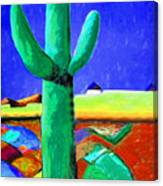Cactus By Nixo Canvas Print