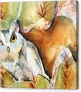 Cactus Owl Canvas Print
