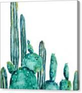 Cactus Watercolor 1 Canvas Print