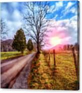 Cades Country Lane Canvas Print