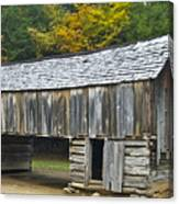 Cades Cove Barn Canvas Print
