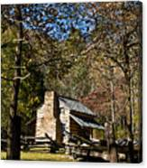 Cades Cove Early Settler Cabin  Canvas Print