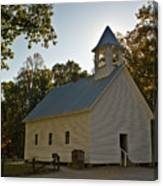 Cades Cove Methodist Church Aglow Canvas Print