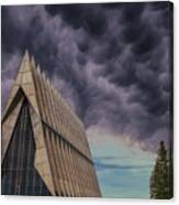 Cadet Chapel At The United States Air Force Academy Canvas Print