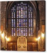 Cadet Chapel With Stained Glass Windows Canvas Print