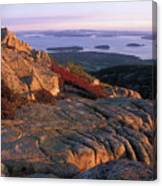 Cadillac Mountain At Sunrise Canvas Print