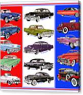 15 Cadillacs The Poster Canvas Print