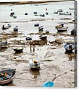 Cadiz Spain Low Tide Canvas Print