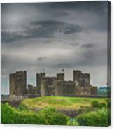 Caerphilly Castle East View 3 Canvas Print
