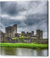 Caerphilly Castle North View 3 Canvas Print