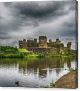 Caerphilly Castle South East View 2 Canvas Print