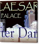 Caesars Palace After Dark Canvas Print