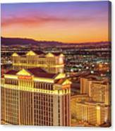 Caesars Palace After Sunset 6 To 3.5 Aspect Ratio Canvas Print