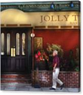 Cafe - Jolly Trolley Canvas Print