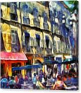 Cafe 2 Provence Canvas Print