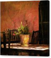 Cafe A La Sombra Canvas Print