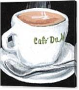 Cafe Au Lait Canvas Print