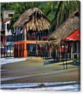 Cafe Beach Bucerias Mexico Canvas Print