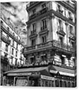 Cafe Corner - Le Bouquet Du Nord Canvas Print