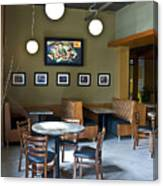 Cafe E Interior Canvas Print