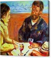 Cafe  Homage  De Pierre Auguste Canvas Print