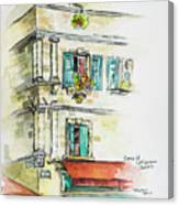 Cafe In Arles Canvas Print