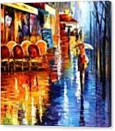 Cafe In Paris Canvas Print