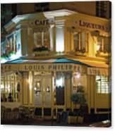 Cafe Louis Philippe Canvas Print