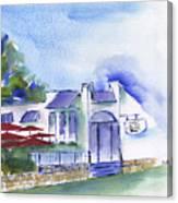 Cafe On The Corner Canvas Print