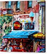 Cafe Piazzetta  St Denis Canvas Print