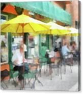 Cafe Pizzaria Canvas Print