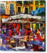 Cafe Provence Canvas Print