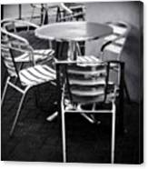 Cafe Seating Canvas Print