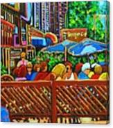 Cafe Second Cup Canvas Print