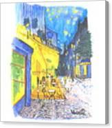 Cafe Terrace At Night - Van Gogh Canvas Print